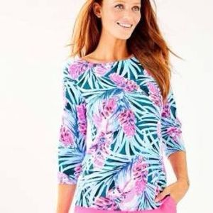 Lilly Pulitzer Waverly Top Mr Peacock Blue S